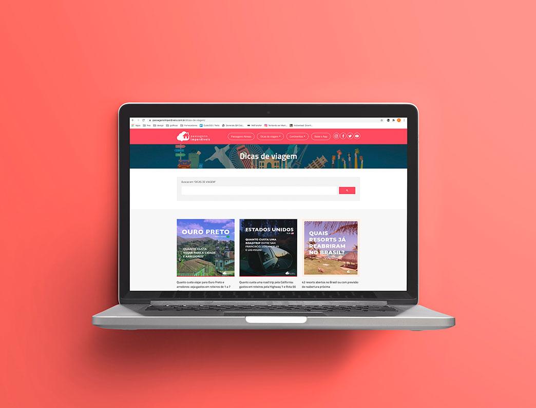 Otimização de SEO no site e blog do Passagens Imperdíveis